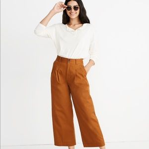 Madewell Petite Pleated Wide-Leg Pants